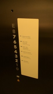 Benz  museum elevator buton